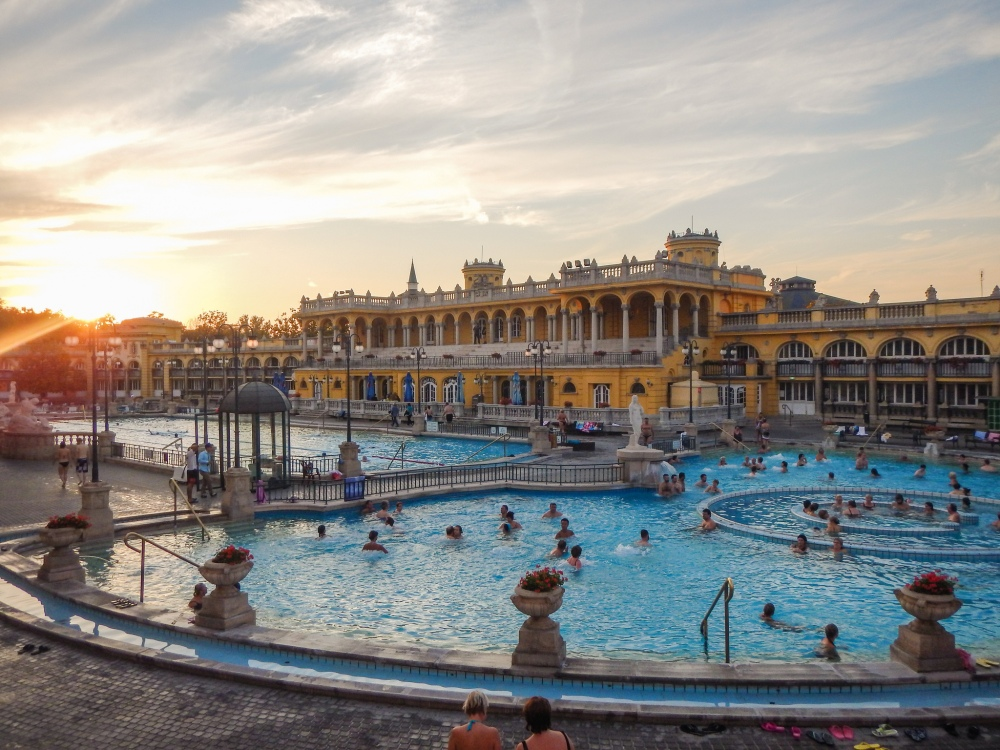 Széchenyi Thermal baths in Budapest; photo courtesy of Shawn Harquail