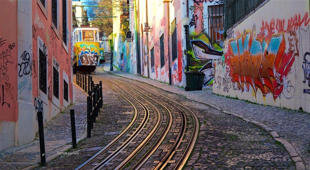 Lisbon street shot
